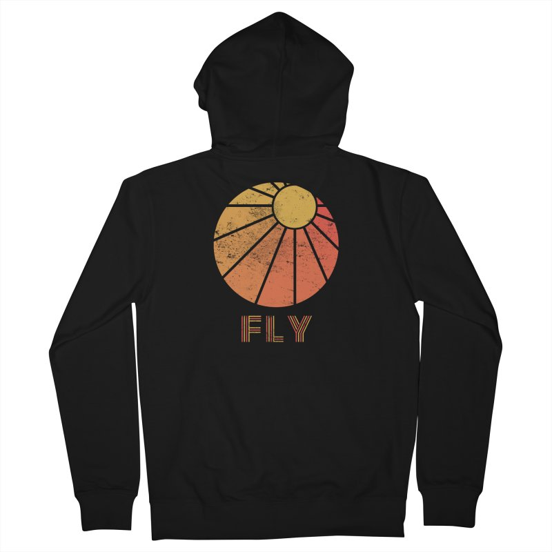 Retro Fly - Paragliding/Hang Gliding Women's French Terry Zip-Up Hoody by The Wandering Fools