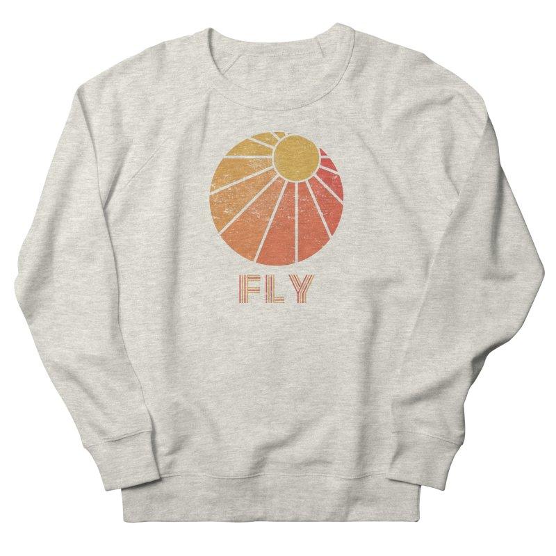 Retro Fly - Paragliding/Hang Gliding Women's French Terry Sweatshirt by The Wandering Fools