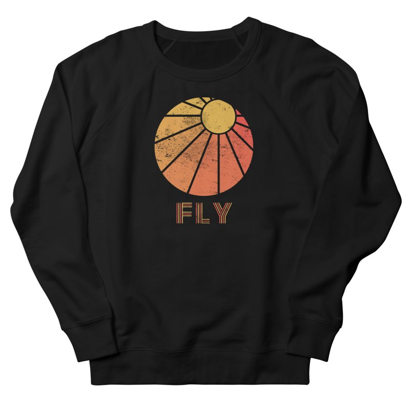 Retro Fly - Paragliding/Hang Gliding Men's French Terry Sweatshirt by The Wandering Fools