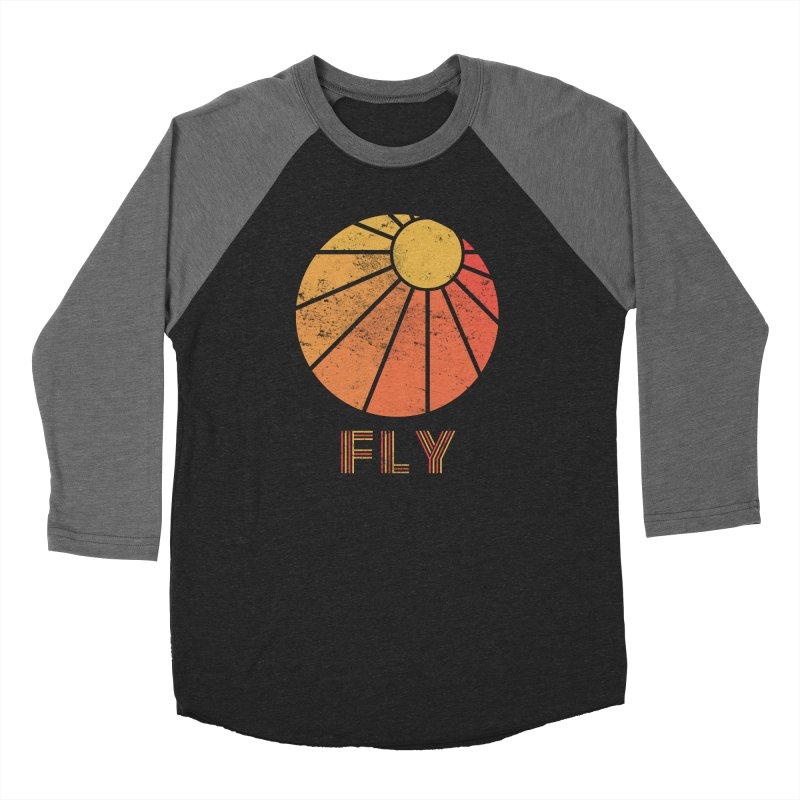 Retro Fly - Paragliding/Hang Gliding Women's Baseball Triblend Longsleeve T-Shirt by The Wandering Fools