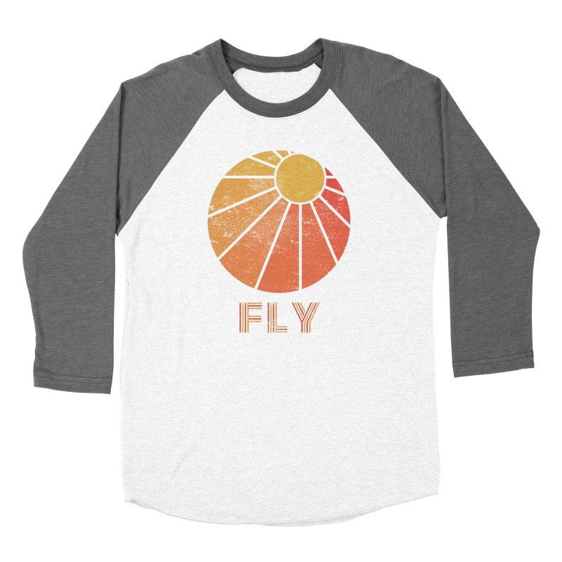 Retro Fly - Paragliding/Hang Gliding Men's Baseball Triblend Longsleeve T-Shirt by The Wandering Fools