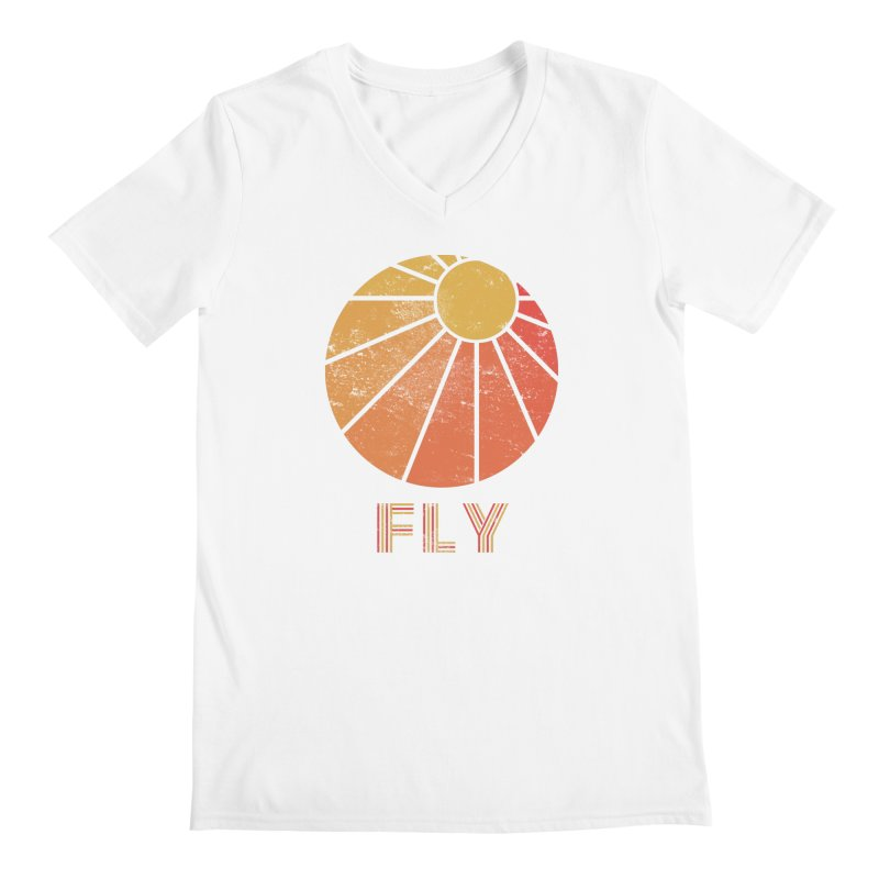 Retro Fly - Paragliding/Hang Gliding Men's Regular V-Neck by The Wandering Fools
