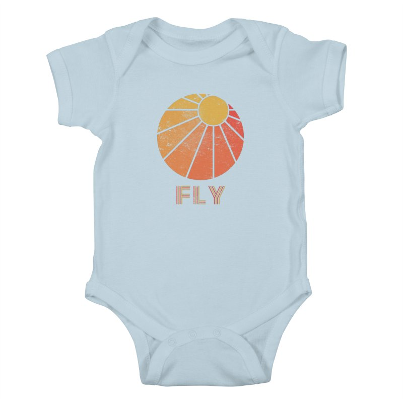 Retro Fly - Paragliding/Hang Gliding Kids Baby Bodysuit by The Wandering Fools
