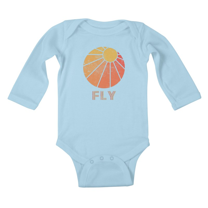 Retro Fly - Paragliding/Hang Gliding Kids Baby Longsleeve Bodysuit by The Wandering Fools