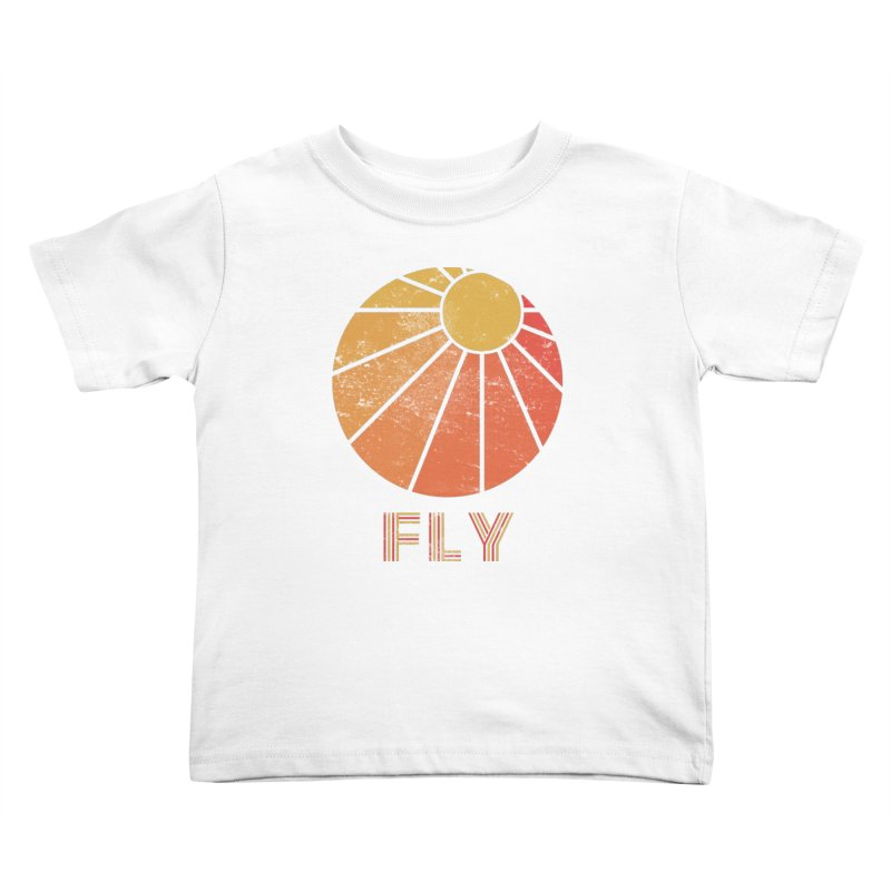 Retro Fly - Paragliding/Hang Gliding Kids Toddler T-Shirt by The Wandering Fools