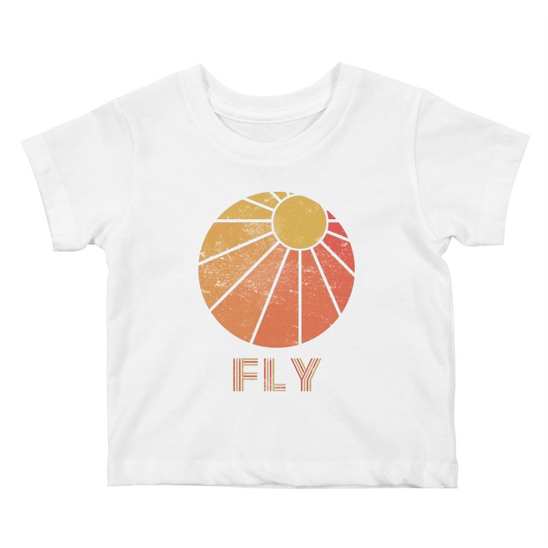 Retro Fly - Paragliding/Hang Gliding Kids Baby T-Shirt by The Wandering Fools