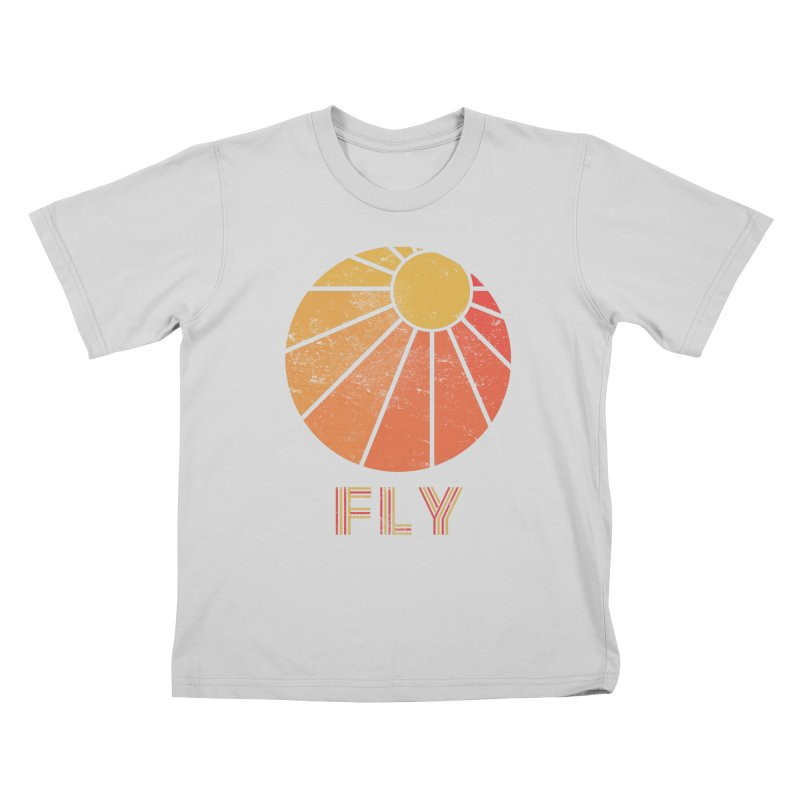 Retro Fly - Paragliding/Hang Gliding Kids T-Shirt by The Wandering Fools