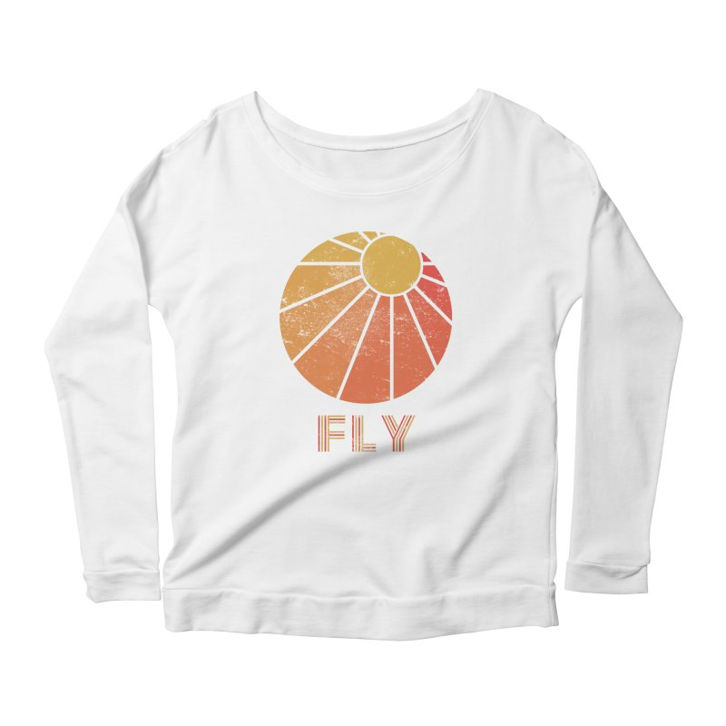 Retro Fly - Paragliding/Hang Gliding Women's Scoop Neck Longsleeve T-Shirt by The Wandering Fools