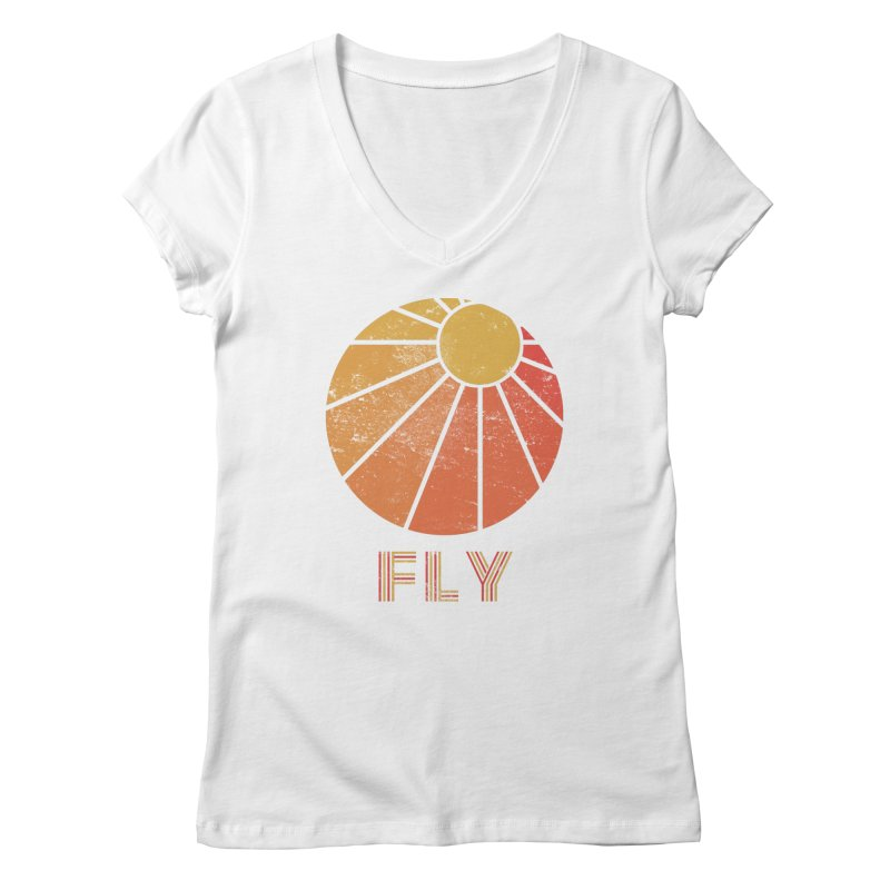 Retro Fly - Paragliding/Hang Gliding Women's Regular V-Neck by The Wandering Fools
