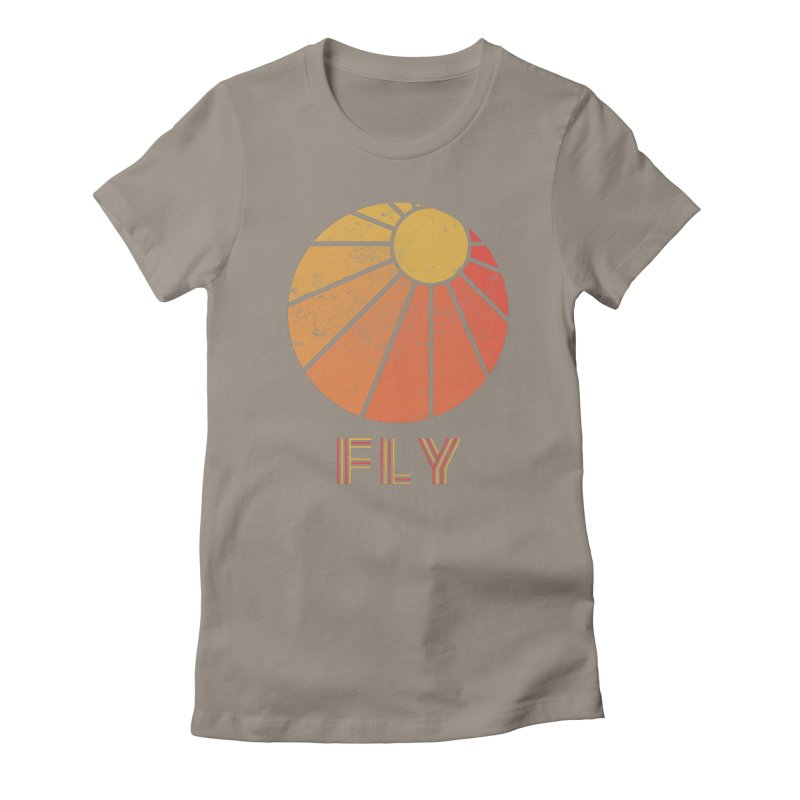 Retro Fly - Paragliding/Hang Gliding Women's Fitted T-Shirt by The Wandering Fools