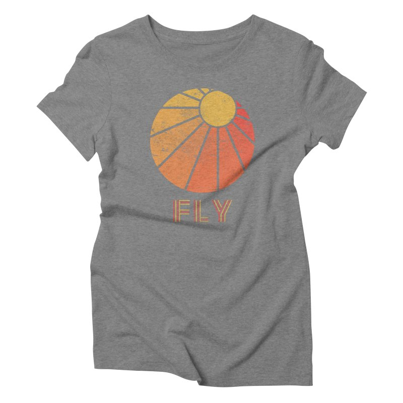 Retro Fly - Paragliding/Hang Gliding Women's Triblend T-Shirt by The Wandering Fools