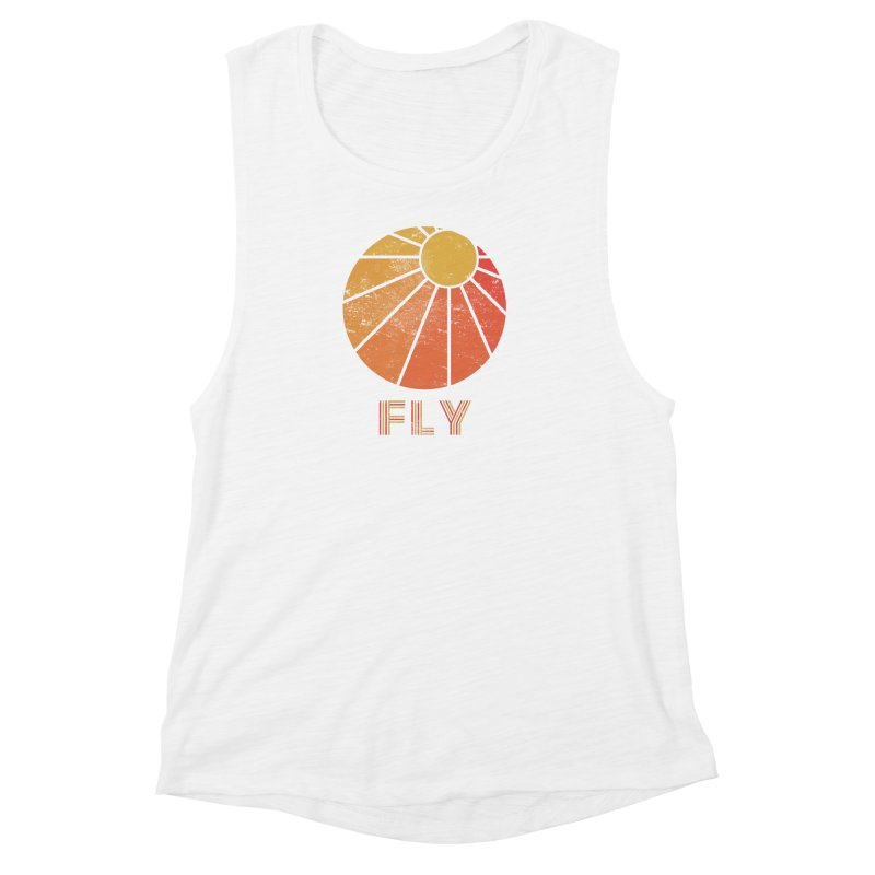 Retro Fly - Paragliding/Hang Gliding Women's Muscle Tank by The Wandering Fools
