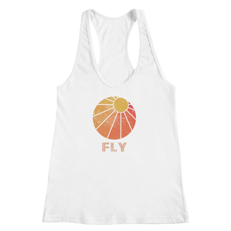 Retro Fly - Paragliding/Hang Gliding Women's Racerback Tank by The Wandering Fools