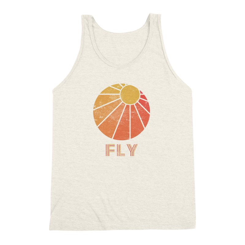 Retro Fly - Paragliding/Hang Gliding Men's Triblend Tank by The Wandering Fools