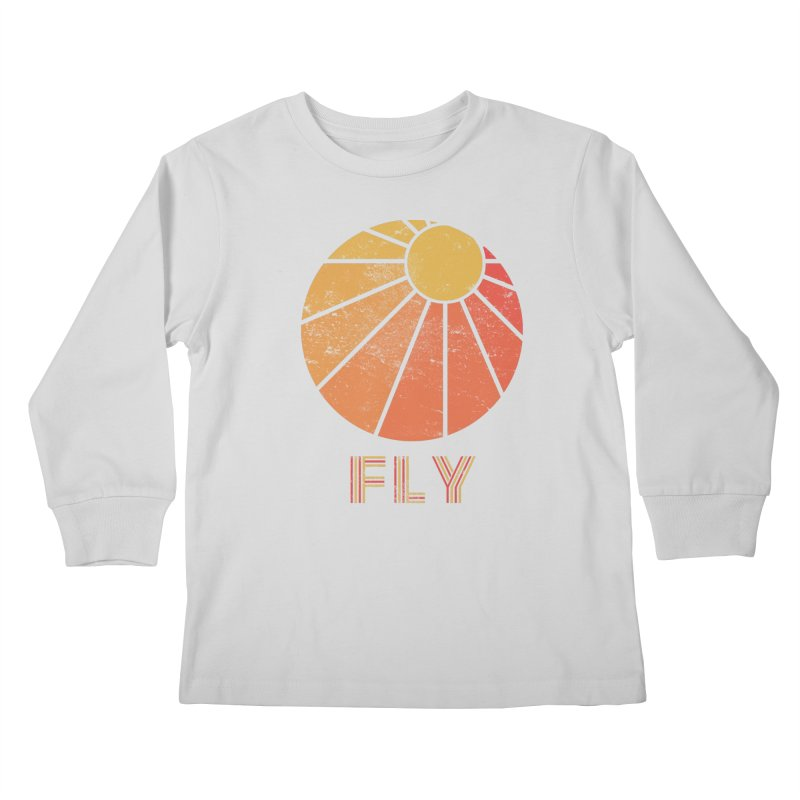 Retro Fly - Paragliding/Hang Gliding Kids Longsleeve T-Shirt by The Wandering Fools