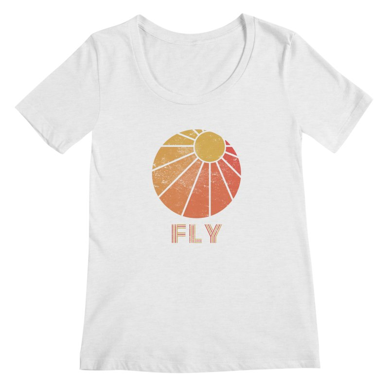 Retro Fly - Paragliding/Hang Gliding Women's Regular Scoop Neck by The Wandering Fools