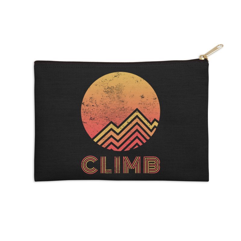 Retro Climb - Rock Climbing Accessories Zip Pouch by The Wandering Fools