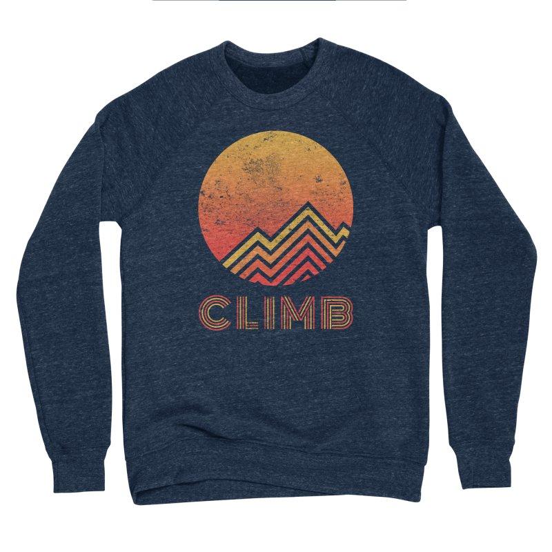Retro Climb - Rock Climbing Women's Sponge Fleece Sweatshirt by The Wandering Fools