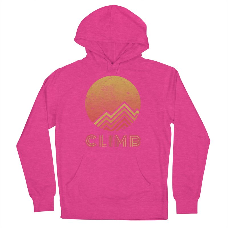 Retro Climb - Rock Climbing Women's French Terry Pullover Hoody by The Wandering Fools