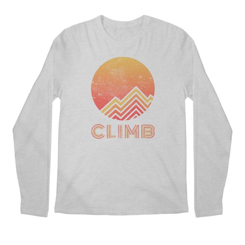 Retro Climb - Rock Climbing Men's Regular Longsleeve T-Shirt by The Wandering Fools