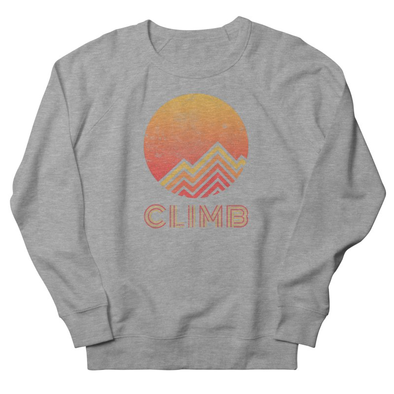 Retro Climb - Rock Climbing Women's French Terry Sweatshirt by The Wandering Fools