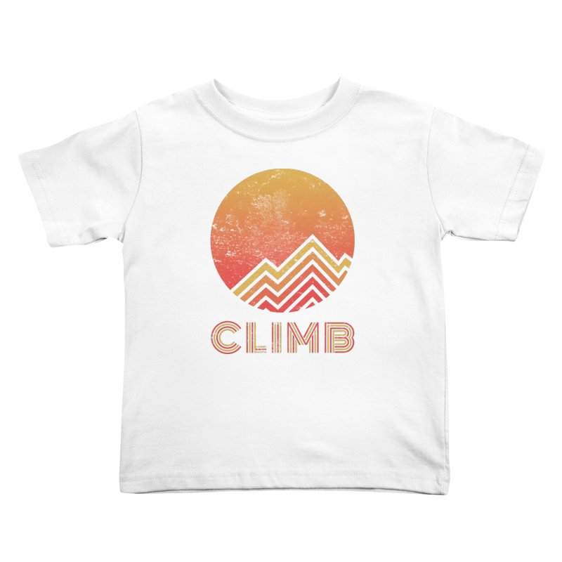 Retro Climb - Rock Climbing Kids Toddler T-Shirt by The Wandering Fools