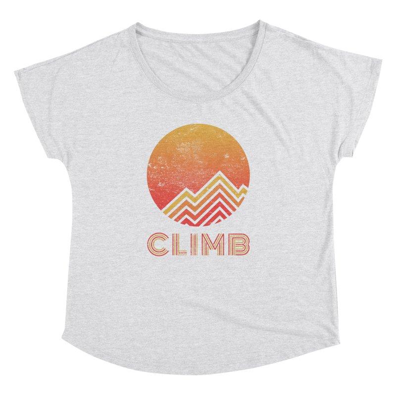 Retro Climb - Rock Climbing Women's Dolman Scoop Neck by The Wandering Fools