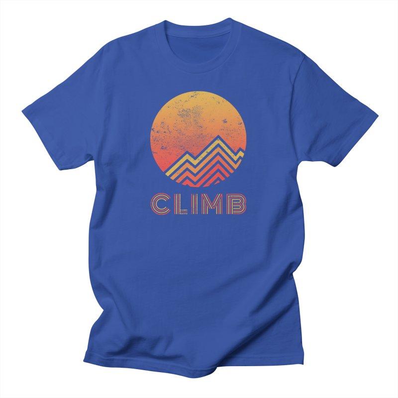 Retro Climb - Rock Climbing Men's T-Shirt by The Wandering Fools Artist Shop