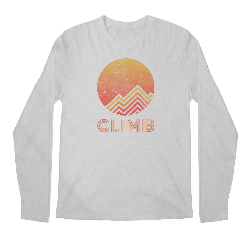 Retro Climb - Rock Climbing Men's Longsleeve T-Shirt by The Wandering Fools Artist Shop