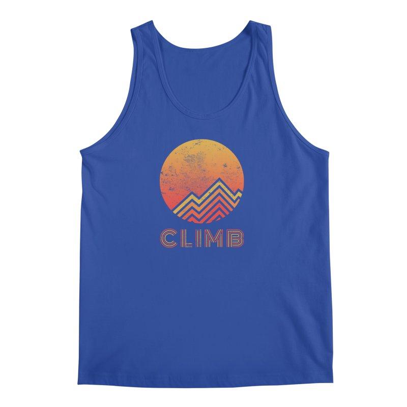 Retro Climb - Rock Climbing Men's Tank by The Wandering Fools