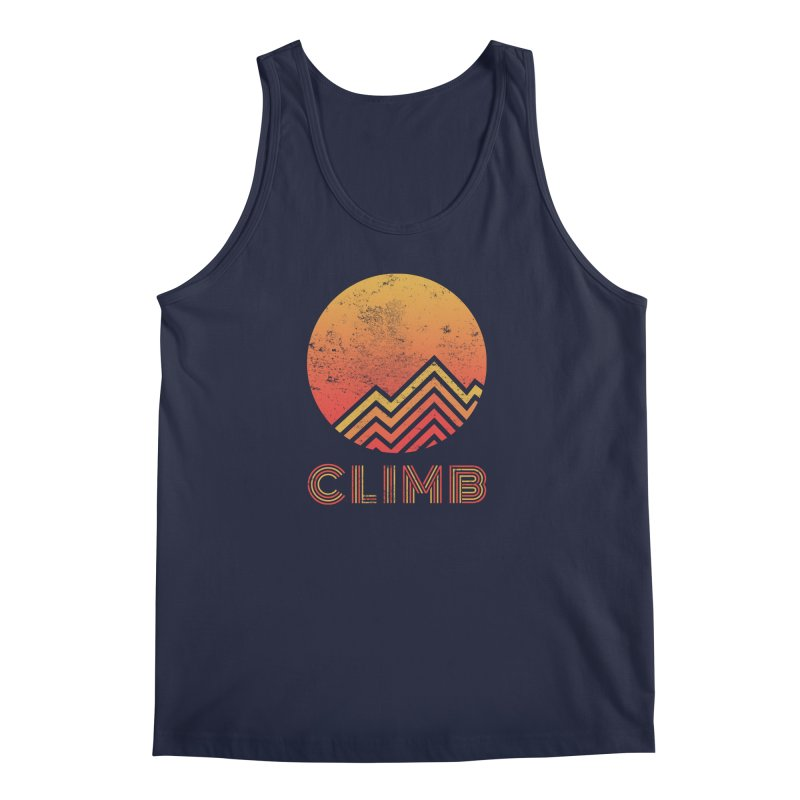 Retro Climb - Rock Climbing Men's Regular Tank by The Wandering Fools