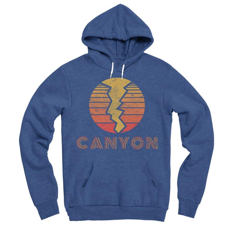 Retro Canyon - Canyoneering Men's Sponge Fleece Pullover Hoody by The Wandering Fools