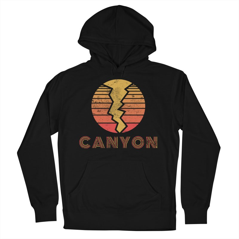 Retro Canyon - Canyoneering in Women's French Terry Pullover Hoody Black by The Wandering Fools