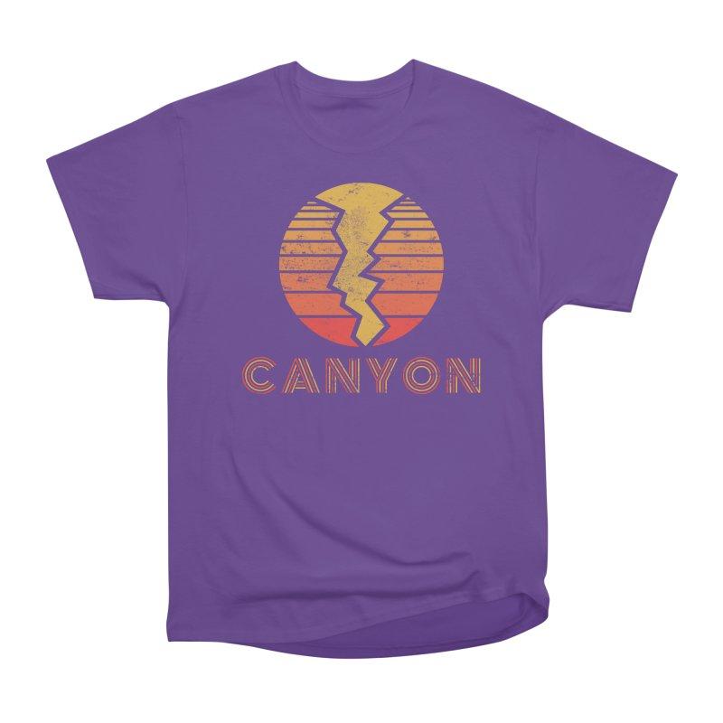 Retro Canyon - Canyoneering Men's Heavyweight T-Shirt by The Wandering Fools