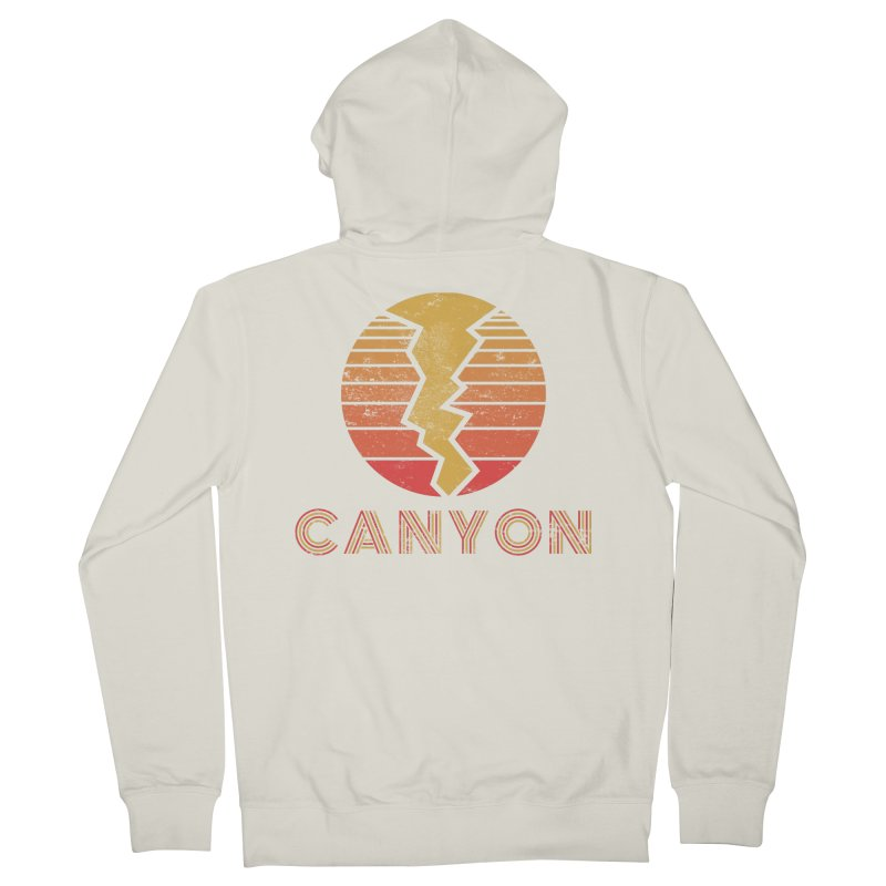 Retro Canyon - Canyoneering Women's French Terry Zip-Up Hoody by The Wandering Fools