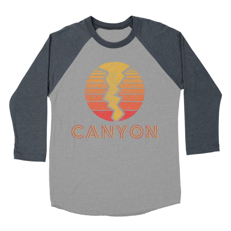 Retro Canyon - Canyoneering Women's Baseball Triblend Longsleeve T-Shirt by The Wandering Fools