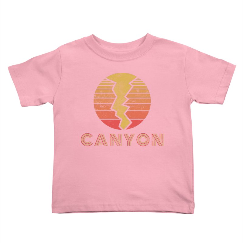 Retro Canyon - Canyoneering Kids Toddler T-Shirt by The Wandering Fools