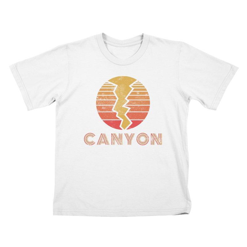 Retro Canyon - Canyoneering Kids T-Shirt by The Wandering Fools