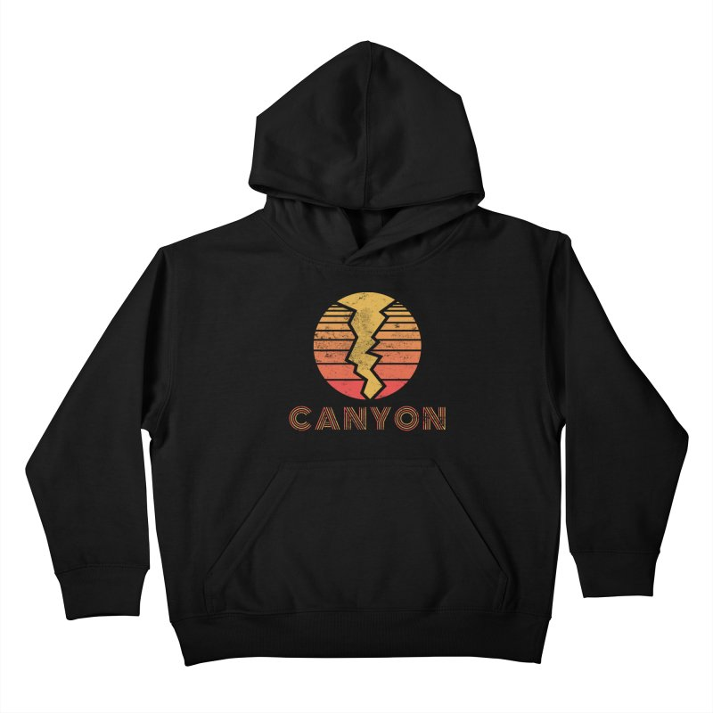 Retro Canyon - Canyoneering Kids Pullover Hoody by The Wandering Fools