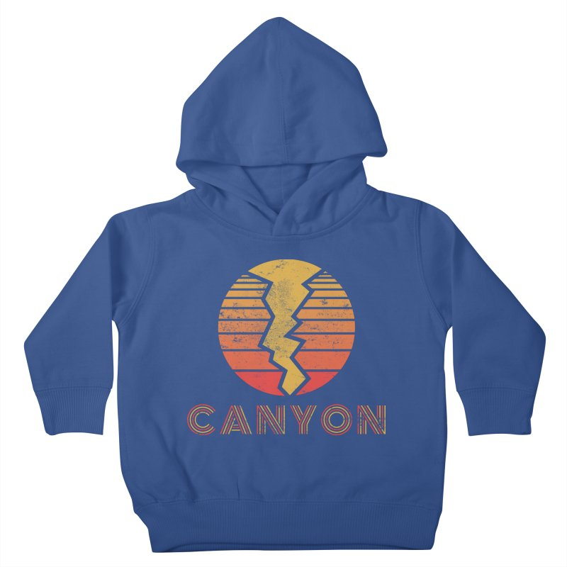 Retro Canyon - Canyoneering Kids Toddler Pullover Hoody by The Wandering Fools