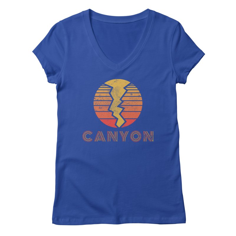 Retro Canyon - Canyoneering Women's Regular V-Neck by The Wandering Fools