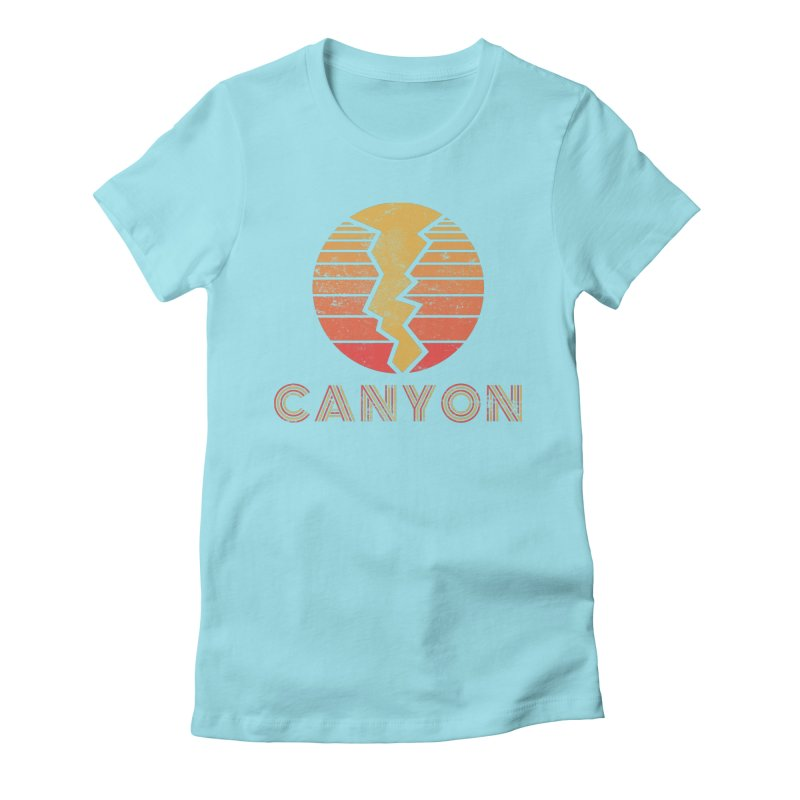 Retro Canyon - Canyoneering Women's Fitted T-Shirt by The Wandering Fools