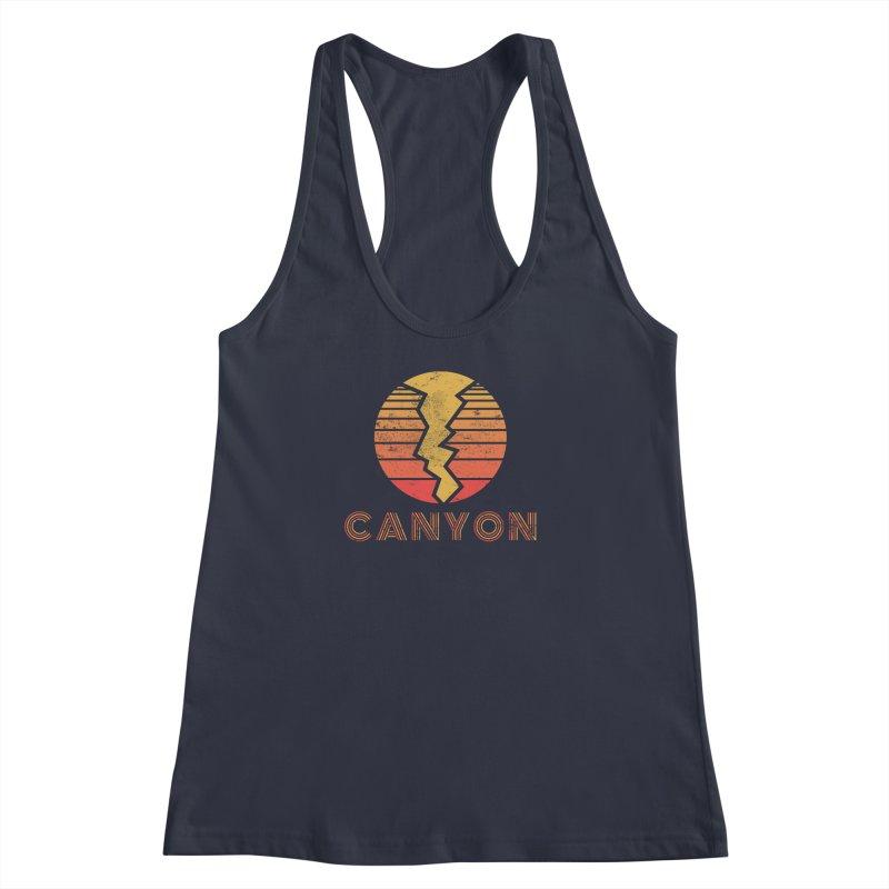 Retro Canyon - Canyoneering Women's Racerback Tank by The Wandering Fools