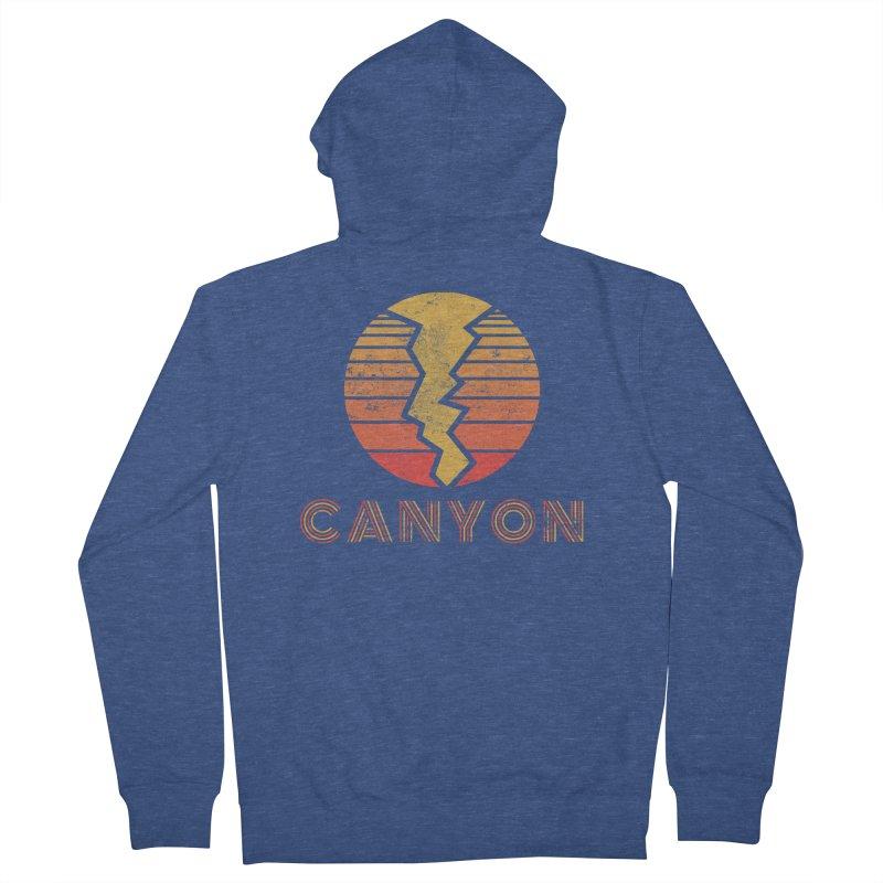 Retro Canyon - Canyoneering Men's Zip-Up Hoody by The Wandering Fools Artist Shop