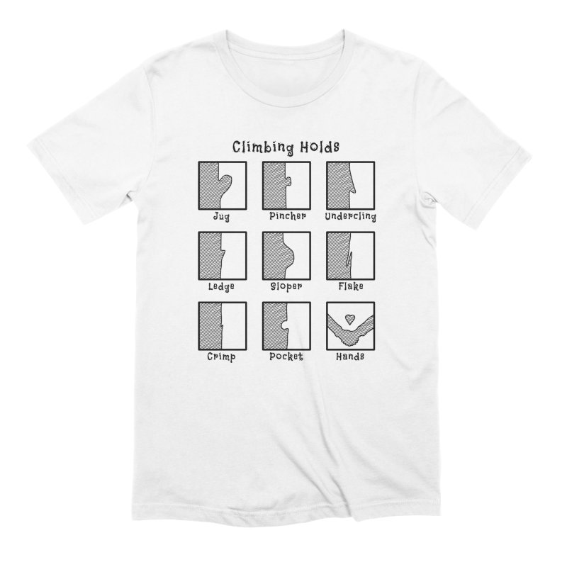 Climbing Holds in Men's Extra Soft T-Shirt White by The Wandering Fools