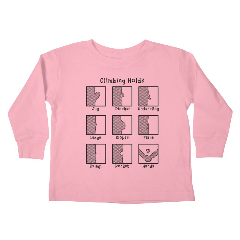 Climbing Holds Kids Toddler Longsleeve T-Shirt by The Wandering Fools