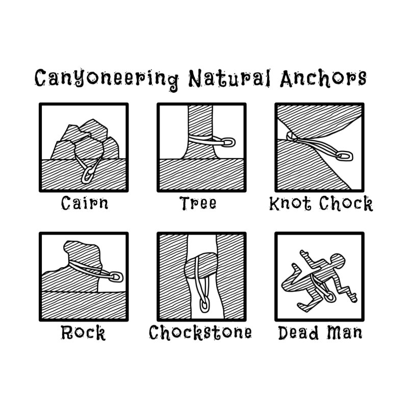 Canyoneering Natural Anchors Women's Scoop Neck by The Wandering Fools