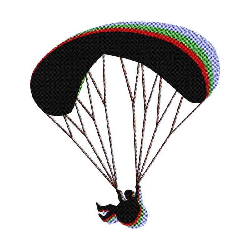 Paragliding RGB Men's Tank by The Wandering Fools