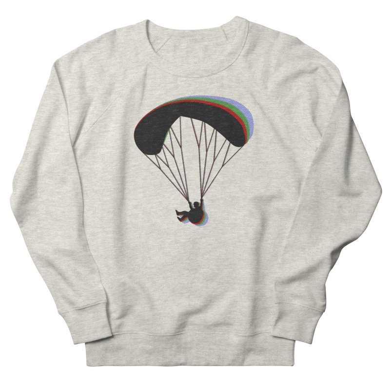 Paragliding RGB in Men's French Terry Sweatshirt Heather Oatmeal by The Wandering Fools