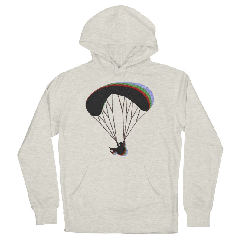 Paragliding RGB Men's French Terry Pullover Hoody by The Wandering Fools